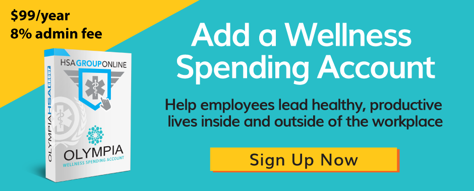 Add a wellness spending account sign up now