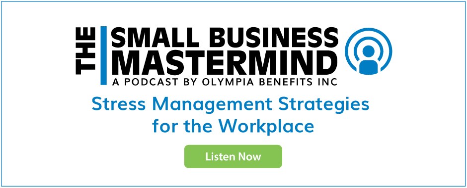Stress Management Strategies for the workplace podcast, listen now.