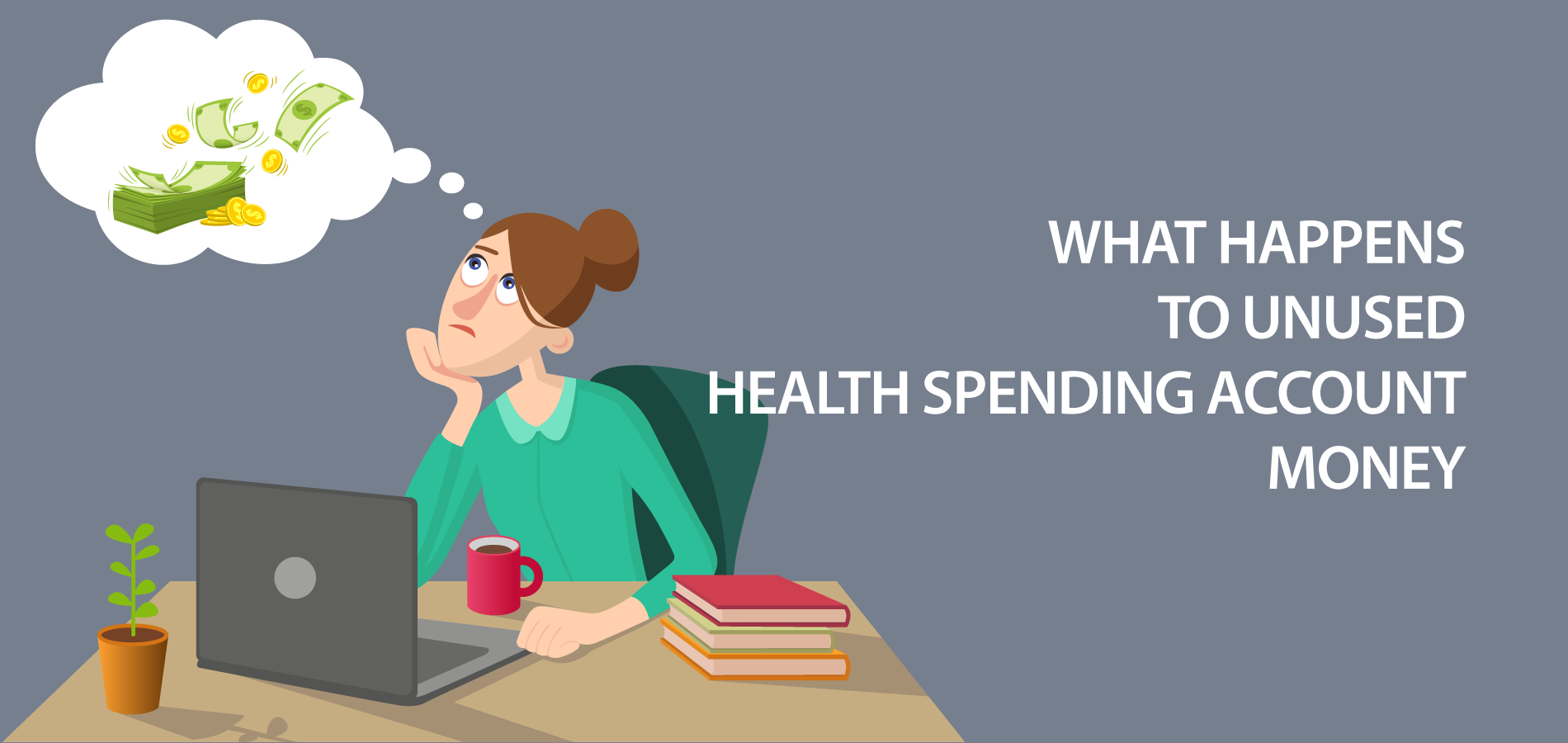 What happens to unused health spending account money