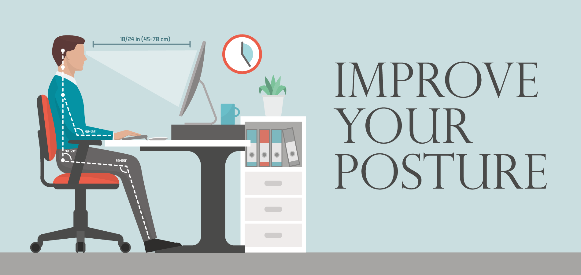 take these small tips to improve your posture in the office